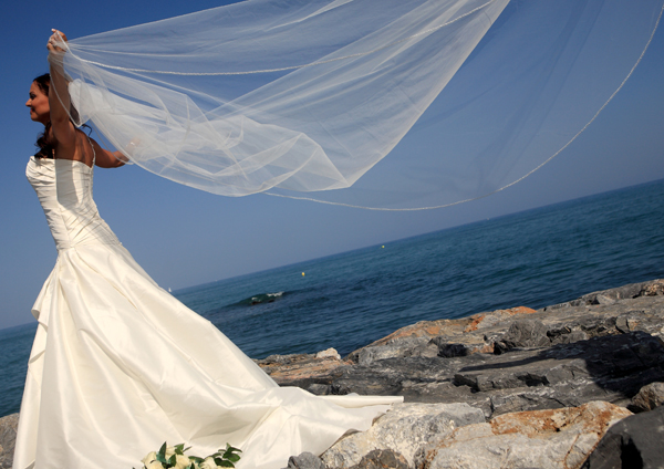 Bride by the sea in benalmadena