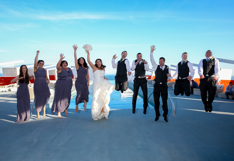 Bridal party on the roof! LR