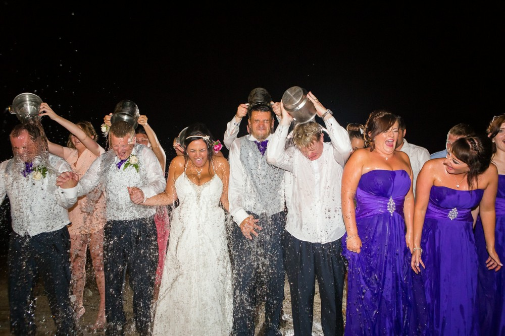 Bridal party ice bucket challenge