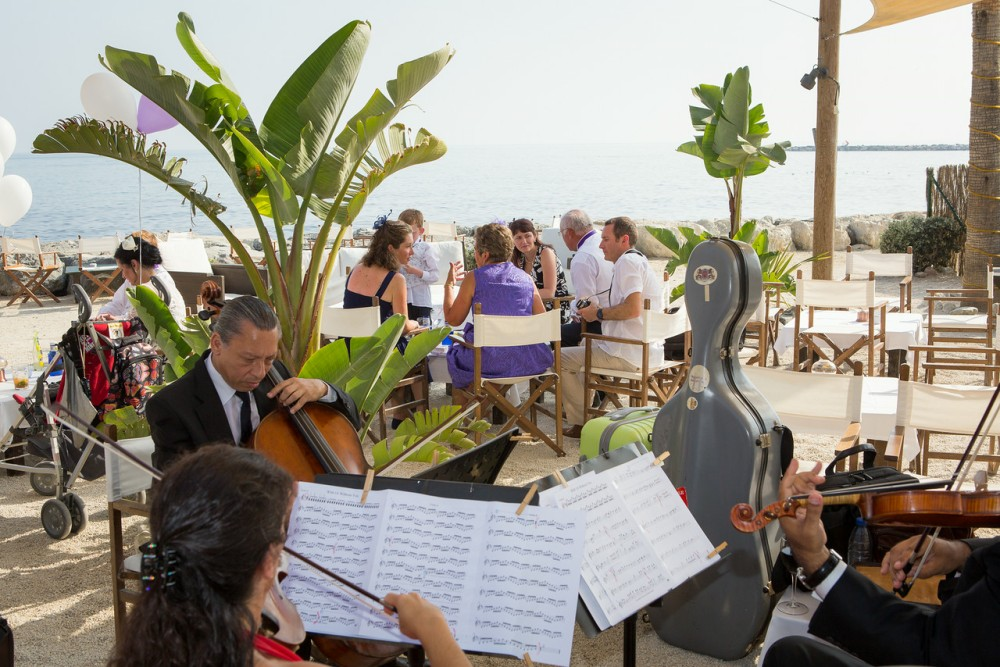 Drinks reception with string group at Salitos