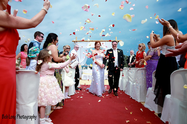 Confetti after the ceremony