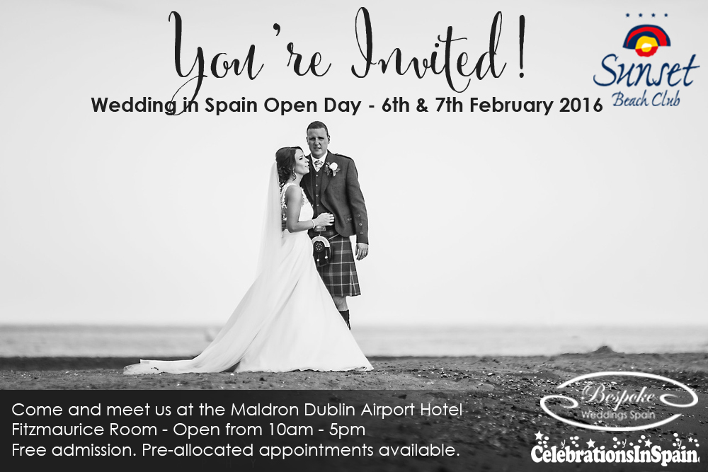 February Wedding Open Day Invitation