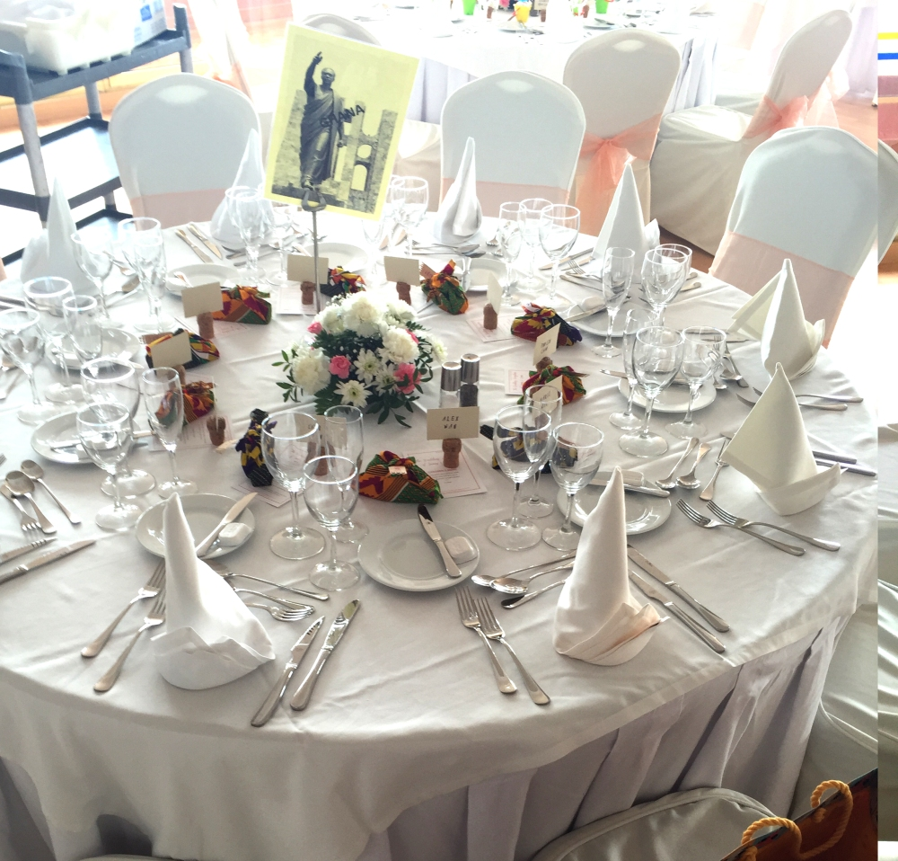 Ghana Wedding Table