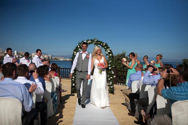 Just married in Spain