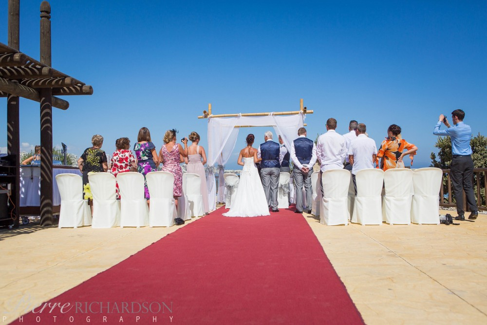 Ceremony from behind