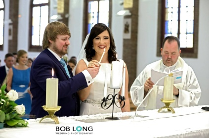 Lighting the candles at the Church