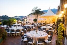 Outdoor dinner at Finca Dulzura Benalmadena