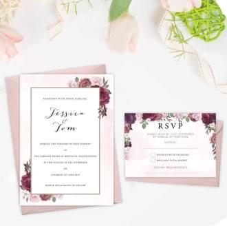 Sample blush invitations
